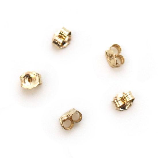 Wholesale 1/20 14K Gold Filled Butterfly Earring Post Backs Earnuts (5 pairs)