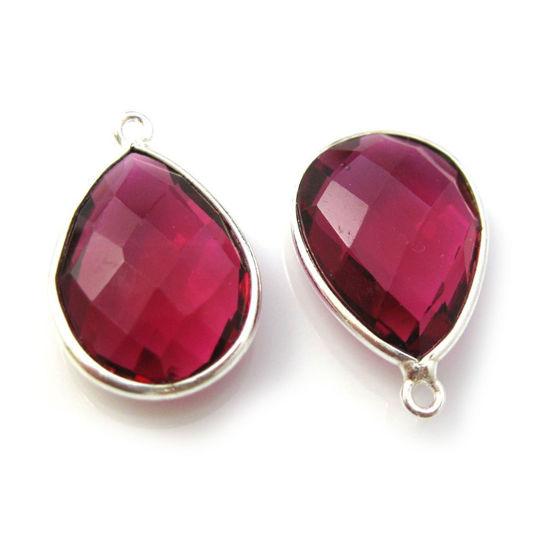 Wholesale Sterling Silver Teardrop Bezel Blue Sapphire Dyed Gemstone Pendant, Wholesale Gemstone Pendants for Jewelry Making