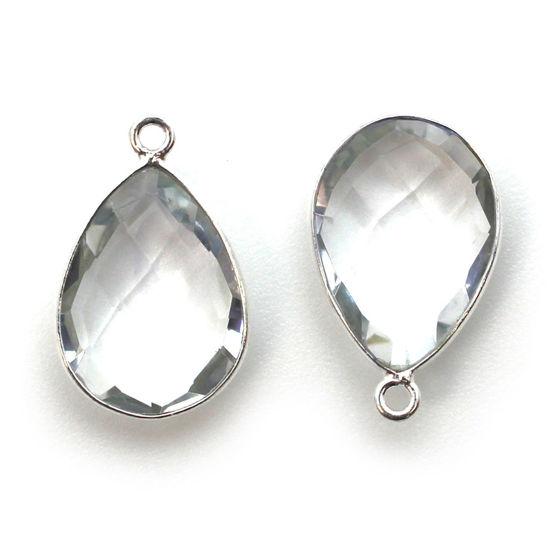 Wholesale Sterling Silver Teardrop Bezel Crystal Quartz Gemstone Pendant, Wholesale Gemstone Pendants for Jewelry Making