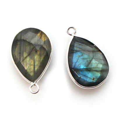 Wholesale Sterling Silver Teardrop Bezel Labradorite Gemstone Pendant, Wholesale Gemstone Pendants for Jewelry Making