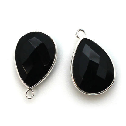 Wholesale Sterling Silver Teardrop Bezel Smokey Quartz Gemstone Pendant, Wholesale Gemstone Pendants for Jewelry Making