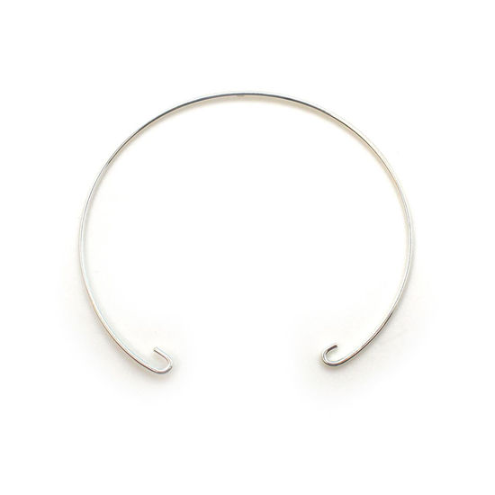 Wholesale Sterling Silver Half Circle Bangle Style Pendant Connector, Charms and Pendants for Jewelry Making, Wholesale Findings