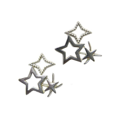 Wholesale Sterling Silver Firework Studs Earrings for Jewelry Making, Wholesale Earwire and Findings