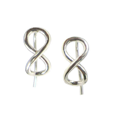 Wholesale Sterling Silver Infinty Hook Earrings for Jewelry Making, Wholesale Earwire and Findings