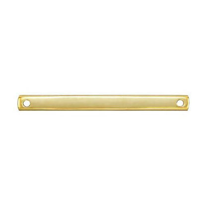 wholesale gold filled bar pendant 25mm with two holes