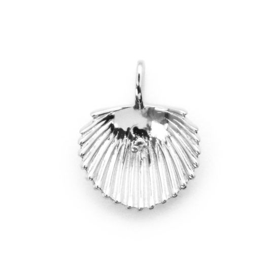 Wholesale 925 Sterling Silver Clam Shell Pearl Cup Bail for Half-Drilled Pearls (1 pc)