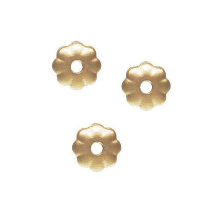 Wholesale gold filled 3mm flower bead cap