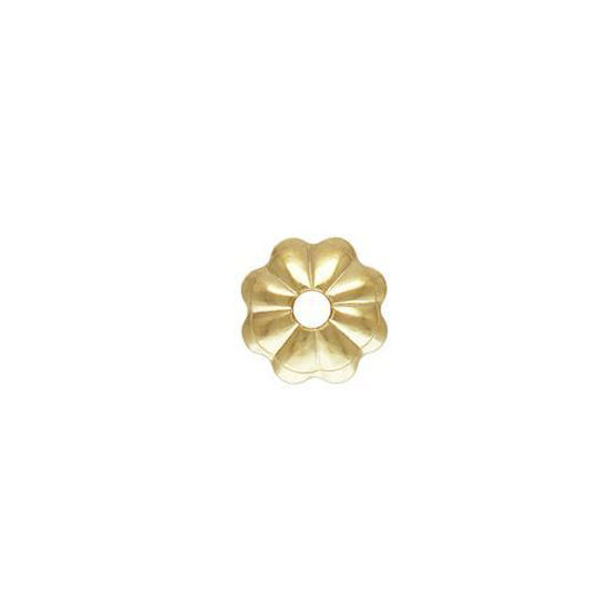 Wholesale gold filled 4mm flower bead cap