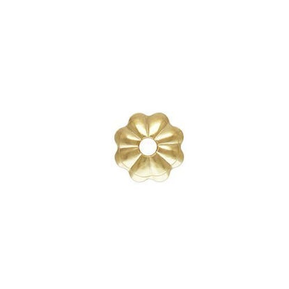 wholesale gold filled 6mm flower bead cap