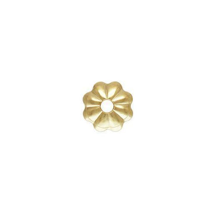 wholesale gold filled 7mm flower bead cap