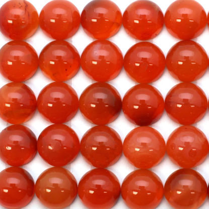 Wholesale Cabochon Carnelian Round, 10mm, Grade A+