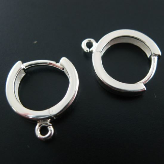 Wholesale Sterling Silver Strong Hoop Earrings for Jewelry Making, Wholesale Earwire and Findings