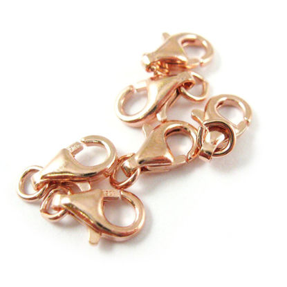 Wholesale Rose Gold over 925 Sterling Silver Lobster Clasp - 9mm (sold per piece)