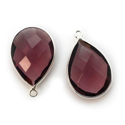 Wholesale Sterling Silver Teardrop Bezel Pink Amethyst Quartz Gemstone Pendant, Wholesale Gemstone Pendants for Jewelry Making