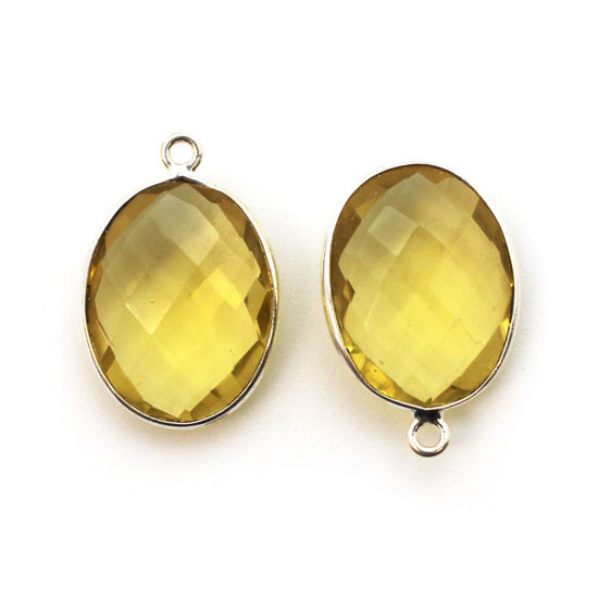 Wholesale Sterling Silver Oval Bezel Lemon Quartz Gemstone Pendant, Wholesale Gemstone Pendants for Jewelry Making