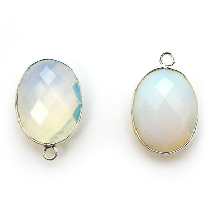 Wholesale Sterling Silver Oval Bezel Opalite Gemstone Pendant, Wholesale Gemstone Pendants for Jewelry Making
