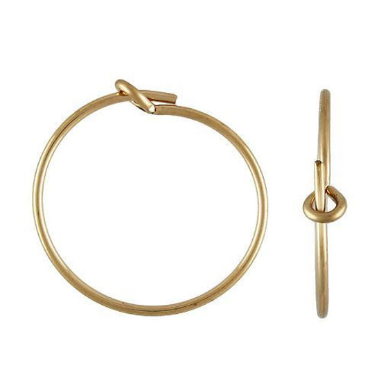 Wholesale gold filled earring hoop 15mm