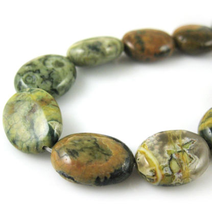 Wholesale Jasper Beads - 15x12mm Smooth Oval (Sold Per Strand)