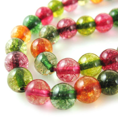 Wholesale Multi-Colored Quartz Beads - 8mm Smooth Round (Sold Per Strand)