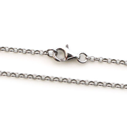 Wholesale Rhodium Over Sterling Silver Finished Chain - 2mm Rolo Chain