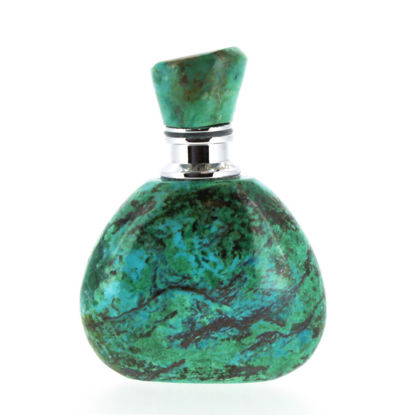 Wholesale Chrysocolla Luxury essential oil bottle- Triangle Shape