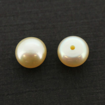 Wholesale Cream Freshwater Button Pearls 6-6.5mm - June Birthstone (Sold Per Pair)