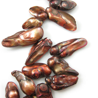 Wholesale Red Wine Colored Freshwater Pearls - Irregular Shape (Sold Per Strand)