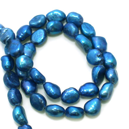 Wholesale Vivid Blue Freshwater Pearls - 10-11mm Nuggets