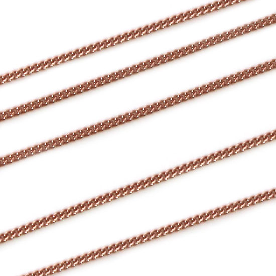 Wholesale Rose Gold over Sterling Silver Chain - Tiny Curb Chain (sold per foot)