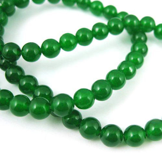 Wholesale Green Jade Beads - 6mm Smooth Round (Sold Per Strand)