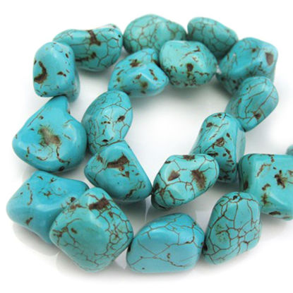Wholesale Blue Howlite Beads - Freeform Shape (sold per strand)
