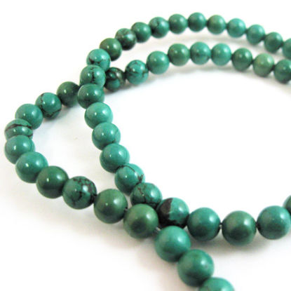 Wholesale Turquoise Beads - 6mm Smooth Round (Sold Per Strand)