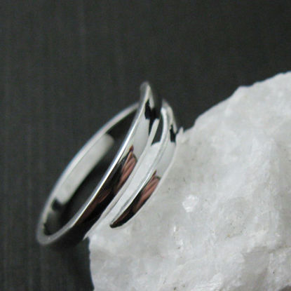 Wholesale 925 Sterling Silver Smooth Classic Double Bar Ring -  Adjustable (1 piece)