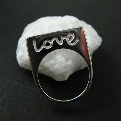 Wholesale 925 Sterling Silver Love in Script Ring (1 piece)