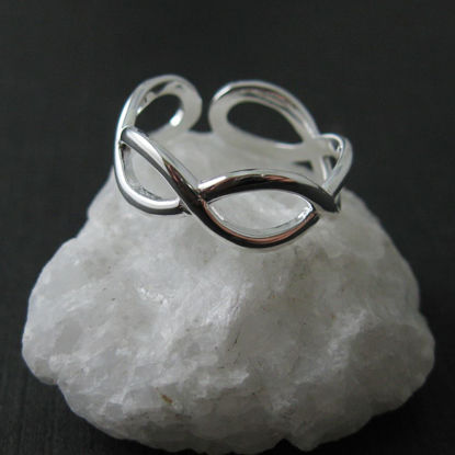 Wholesale 925 Sterling Silver Infinity Knot Ring - Adjustable (1 piece)