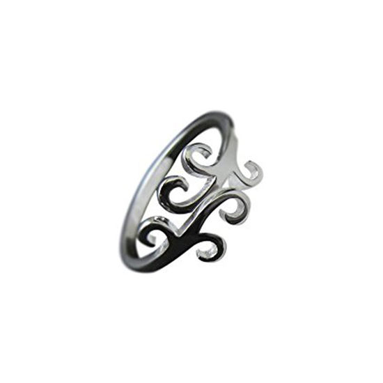 Wholesale 925 Sterling Silver Simple Silver Vine Ring - Adjustable (1 piece)