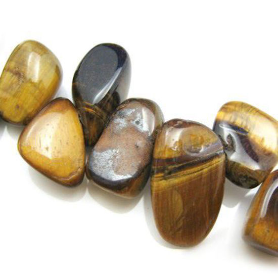 Wholesale Tiger's Eye Beads - 12mm Smooth Nuggets (Sold Per Strand)