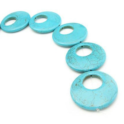 Wholesale Natural Turquoise Stone Beads - Huge Double Round Shape (Sold Per Strand)