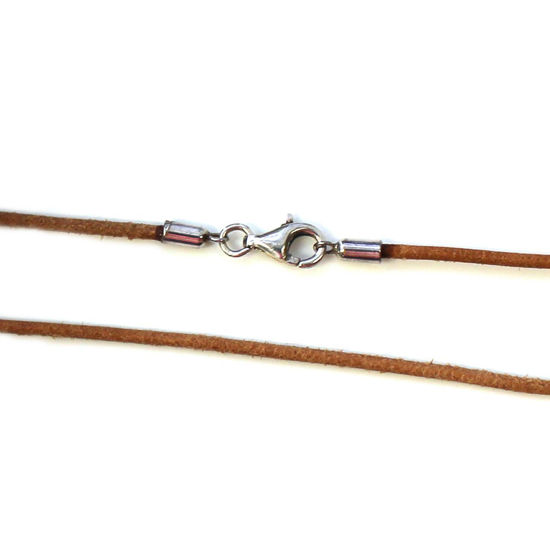 Wholesale Brown Leather Cord Necklace - 1.5mm