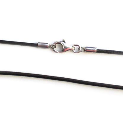 Dark Brown Leather Cord Necklace - 1.5mm
