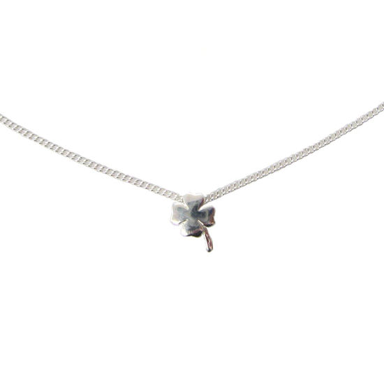 Wholesale Sterling Silver Shamrock Charm Necklace - 15""