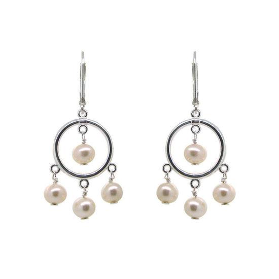 Wholesale Sterling Silver Freshwater Pearl Chandelier Earrings