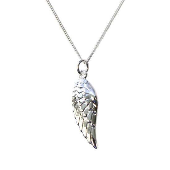 Wholesale Sterling Silver Angel Wing Charm Necklace - 16""