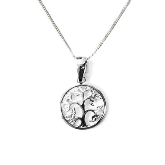 Wholesale Sterling Silver Tree of Life Charm Necklace - 16""