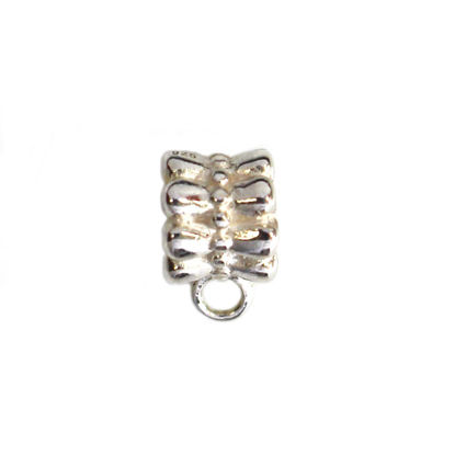 Wholesale 925 Sterling Silver Round Ribbon Bail (1 pc)