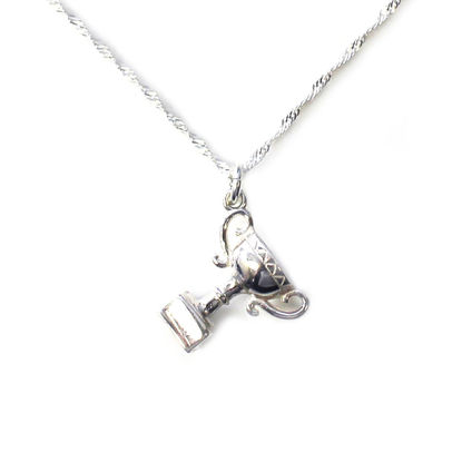 Wholesale Sterling Silver Trophy Charm Necklace - 18""