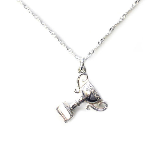 """Wholesale Sterling Silver Trophy Charm Necklace - 18"""""""