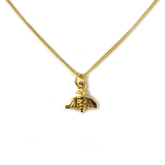 Wholesale Gold Over Sterling Silver Bumblebee Charm Necklace - 16""