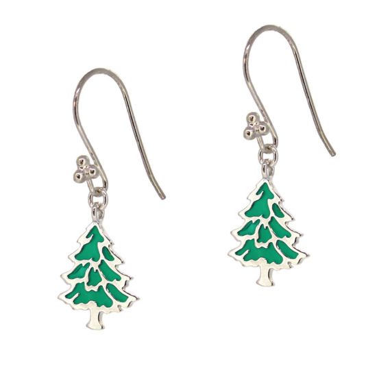 Wholesale Sterling Silver Christmas Tree Earrings (Sold Per Pair)