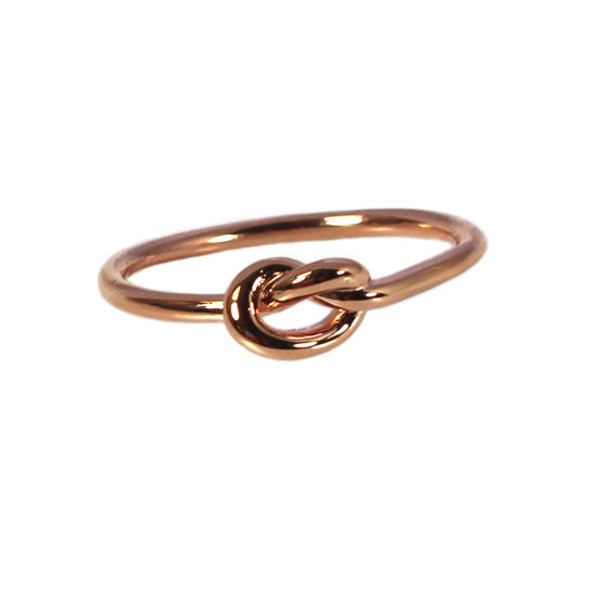 Wholesale Rose Gold Over Sterling Silver Knot Ring (1 piece)